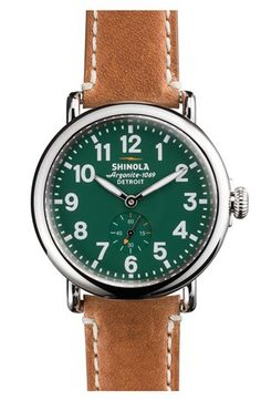 Shinola 'The Runwell' Leather Strap Watch @Nordstrom