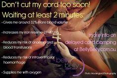 Delay cord clamping!  ♥