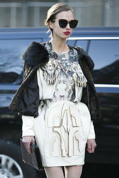 Latest Fashion Week Street Style. Amazing. Full. Stop. New York Fashion Week Fall 2015 #nyfw Photo by Ryan Kibler]