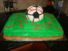 Soccer Cake for Union Grove Tigers