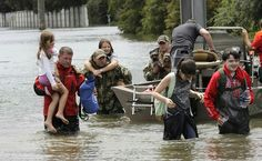 Residents are rescued from their homes surrounded by floodwaters from Tropical Storm Harvey on Sunday, Aug. in Houston, Texas. Photo: David J. Phillip, AP / Copyright 2017 The Associated Press. All rights reserved. Houston, Louisiana, Donald Trump, Texas Flood, Country Music Concerts, San Francisco Earthquake, Visit Texas, Fayette County, Earth