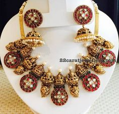 Lakshmi Ruby Choker with Jhumkas