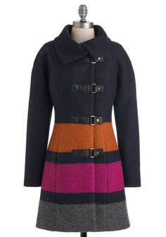 Plenty by Tracy Reese Ironwood Sunset Coat, #ModCloth  On sale for $222.99. Indicates that it's very warm!