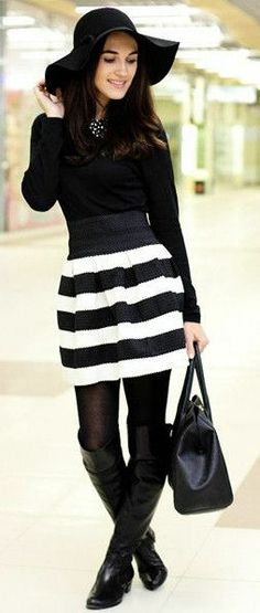 All Black & White // Stripes