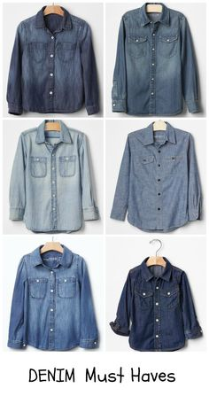 Denim Shirts - Kid C