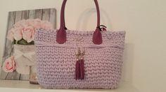 Tasche Borda Borse Bolsos Trapillo Uncinetto Damentasche Bag Handbag Gehäkekt Stofftasche Design Neu Handmade Handarbeit von KSStil auf Etsy