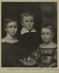 Emily Dickinson (esq.) com Austin e Lavínia.