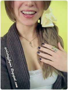 #smile #laco #feather #nails #ring #necklace
