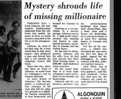Clipping found in The Ottawa Journal in Ottawa, Ontario, Canada on Sep Mystery shrouds life of missing millionaire Ottawa, Mystery, Life