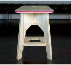 Satula-Eko, tabouret éco design en bois, meuble écologique made in France, Beo Design.