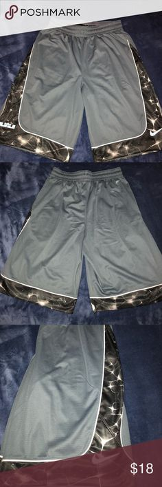 Nike Men's Basketball Shorts Nike men's Lebron James themed basketball shorts Has the Nike swoosh and Lebron logo on each side  Run a bit long for a size small (recommend buying if you are a medium size) Never worn since they do not fit Nike Shorts Athletic