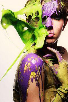 Throwing paint by Marissa ScottX, via Flickr