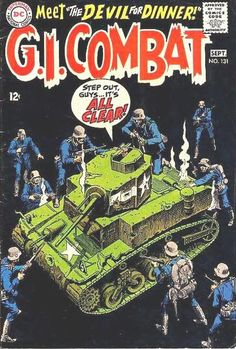 """The coast is clear? Not on Joe Kubert's watch! This """"false sense of security"""" trope made his covers a classic, even if you didn't read the comic!"""