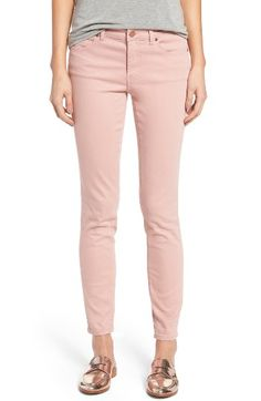 Free shipping and returns on Caslon® Stretch Ankle Skinny Pants (Regular & Petite) at Nordstrom.com. Lightweight denim infused with plenty of stretch comfort and in a fresh-for-spring color is fashioned into ankle-length jeans with a leg-hugging fit.