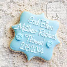 Baptism Cookie Favors 1 Dozen by LittleBirdiesCookies on Etsy