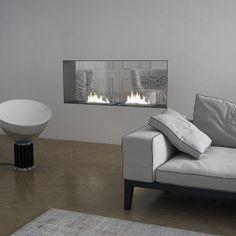 Bioethanol fireplace wall insert Hardy 125, minimalist design