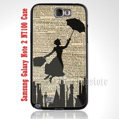 Vintage Mary Poppins Custom Case for Samsung Galaxy Note 2 N7100