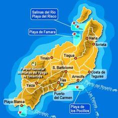 Lanzarote es la isla más oriental y también una de las más antiguas del archipiélago. Los volcanes de Timanfaya dan nombre al Parque Nacional de Timanfaya. Las últimas erupciones ocurrieron en 1730 y 1736 pero todavía hay actividad volcánica. El turismo es la actividad principal económica que contribuyo al desarrolo de la isla.