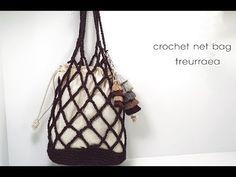 (코바늘가방뜨기)crochet net bag/하루만에 뚝딱뜨는네트백뜨기 - YouTube