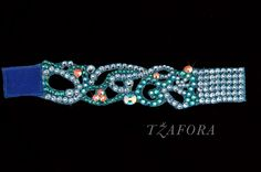 Swarovski ballroom bracelet. Ballroom jewelry, ballroom accessories. www.tzafora.com Copyright © 2014 Tzafora