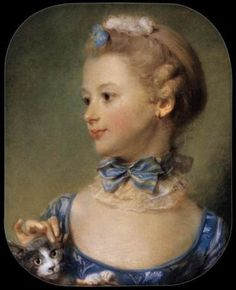 Jean Baptiste Perronneau | Mademoiselle Huquier, 1747                                                                                                                                                                                 Mais