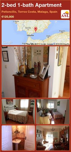 2-bed 1-bath Apartment in Peñoncillo, Torrox Costa, Malaga, Spain ►€125,000 #PropertyForSaleInSpain