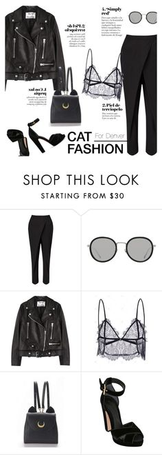 """""""How to Style a Lace Top with a Leather Jacket"""" by outfitsfortravel ❤ liked on Polyvore featuring Jigsaw, Linda Farrow, Acne Studios and Alexander McQueen"""