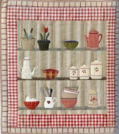 Do as window glass display. Hand Applique, Applique Patterns, Quilt Patterns, Small Quilts, Mini Quilts, Pinterest Patchwork, Quilting Projects, Sewing Projects, House Quilts