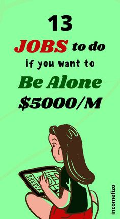 Do you like to be alone and looking for a job that pays good money and allows you to work alone? Here are 13 easy online jobs for introverts that pay really well. Ideal job ideas for moms, jobs for couples, jobs for teen and well paying side hustle ideas Jobs For Teens, Jobs For Women, Earn Money From Home, Way To Make Money, Easy Online Jobs, Wanting To Be Alone, Easy Work, Looking For A Job, Work From Home Jobs