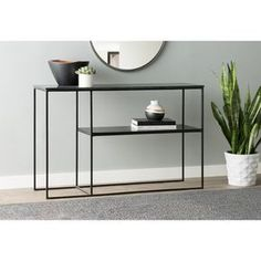 Sharen Konsolentisch - Muebles y Mobiliario Console Table Living Room, Modern Console Tables, Living Room Decor, Iron Console Table, Narrow Console Table, Decor Room, Metal Furniture, Modern Furniture, Furniture Design