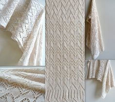 This drapey stole is delicately rendered in a palest pink NoTwoSnowflakes laceweight, and celebrates the Fourth Anniversary of NoTwoSnowflakes. Icy mesh creates a easy knit yet gorgeous body on this rectangular stole, and it is beautifully finished with a simple yet frosty edging. This modern take on snow crystal formations will become a classic wardrobe staple, as it is both casual and elegant. Wear with your warmest wool coat or a silk evening dress-- this piece transitions easily from day…