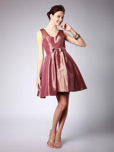 $149.99 A-Line Taffeta Bridesmaid Dress #bridesmaid #dress