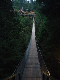 Capilano Suspension Bridge, Vancouver, British Columbia, Canada Suzan didn't we cross this bridge with Lisu? Places Around The World, Oh The Places You'll Go, Places To Travel, Places To Visit, Around The Worlds, British Columbia, Suspension Bridge Vancouver, Beautiful Vacation Spots, Beautiful Places