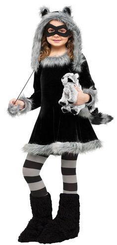 Sweet Raccoon Girl's Costume