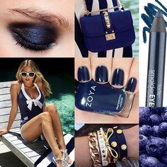 Nice n' navy!  Nails by @valesha wearing #Zoya nail color in Ibiza  #clorpoppin #summer #style #fashion #beauty #mani #nautical