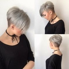 Short Hair Trend Grey