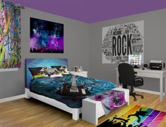 Rock N Roll Wall Murals, be your own super star. See our Rock N Roll designs at http://www.visionbedding.com/WallMurals/RocknRoll.php