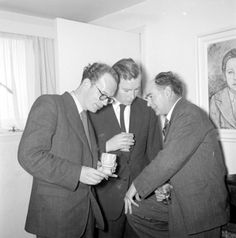 Anthony Cronin, John Ryan, Flann O'Brien.