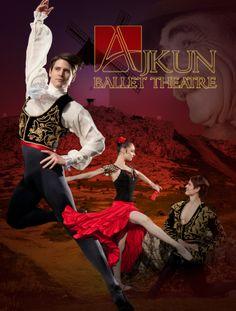 Don Quixote by Chiara Ajkun, featuring Ajkun Ballet Theatre's Brittany Larrimer and William (Billy) Blanken. Image by Rachel Neville.