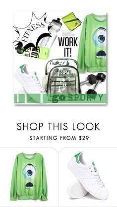 """""""#sportystyle"""" by insaneryk ❤ liked on Polyvore featuring adidas, sport and sportystyle"""