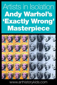 Artists in Isolation: Andy Warhol's 'exactly wrong' masterpiece — Art History Kids Art History Lessons, History For Kids, Art Lessons, Los Angeles With Kids, Art Curriculum, Projects For Kids, Art Projects, Andy Warhol, Famous Artists