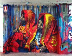 Gorgeous street art from Christian Blanxer