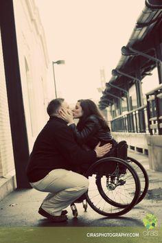 Wheelchair + grunge + kiss = love.