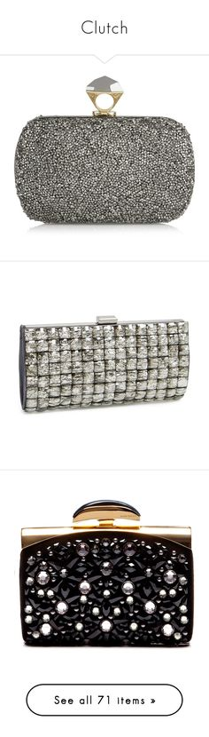 """""""Clutch"""" by alina-chipchikova ❤ liked on Polyvore featuring bags, handbags, clutches, bolsas, diane von furstenberg, grey, hand bags, special occasion clutches, party purses and evening handbags"""