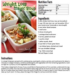 Weight Loss Soup E-BookFavorite Family Recipes