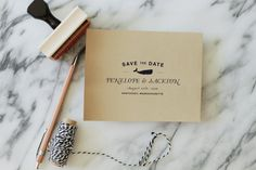 Nautical Whale Save the Date Rubber Stamp - DIY Save the Date - Wedding Invitations - by SubstationPaperie