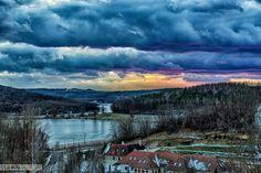 Ha lemegy a nap Szálka, Tolna, Hungary. Hungary