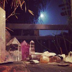 Full Moon -Charging rocks, stones, healing crystals