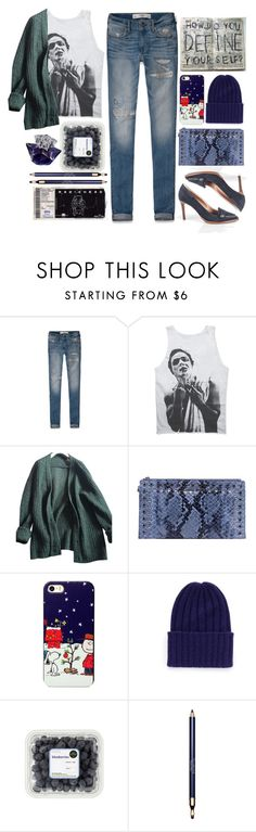 """Blue"" by an-italian-brand ❤ liked on Polyvore featuring Abercrombie & Fitch, Prada, MICHAEL Michael Kors, The Elder Statesman, Clarins and Thierry Mugler"