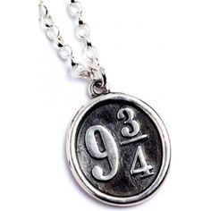 Harry Potter Platform 9 3/4 vedhæng og kæde (Sterling Sølv)